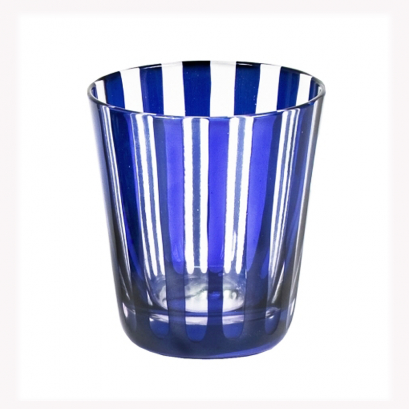 glas trinkglas edzard ela streifen blau saphir. Black Bedroom Furniture Sets. Home Design Ideas