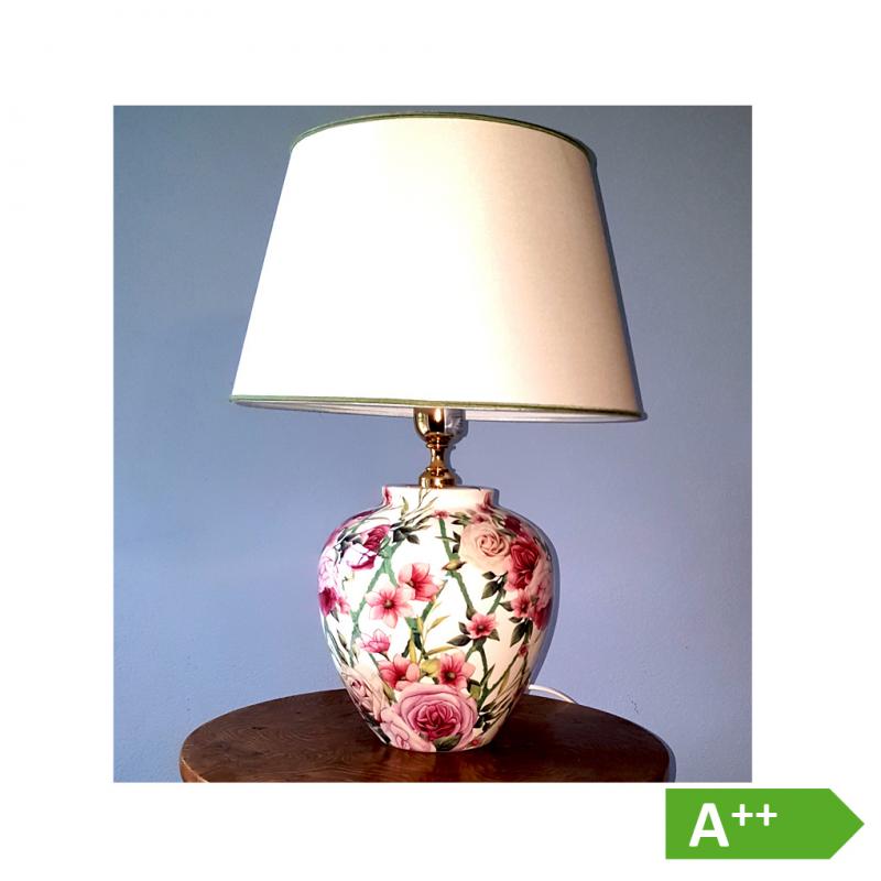 keramik lampe italienische lampe papagei porzellanlampe tischlampe cottagepark wohnen. Black Bedroom Furniture Sets. Home Design Ideas
